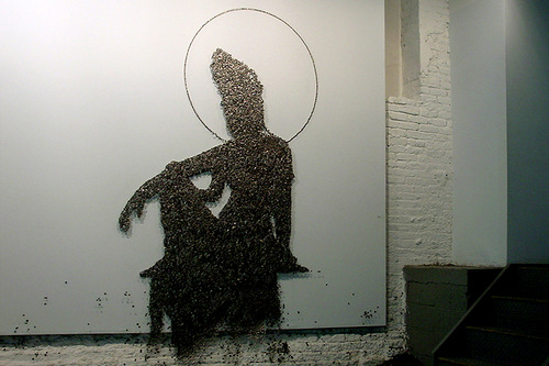Buttons installations by Ran Hwang