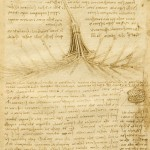 Drawing on anatomy by Leonardo da Vinci