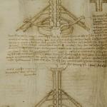 Anatomy drawing by Leonardo da Vinci