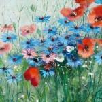 Cornflower in painting, artist Fritz Moritz