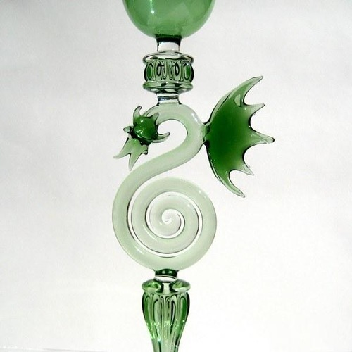 Glass work by American artist Kiva Ford
