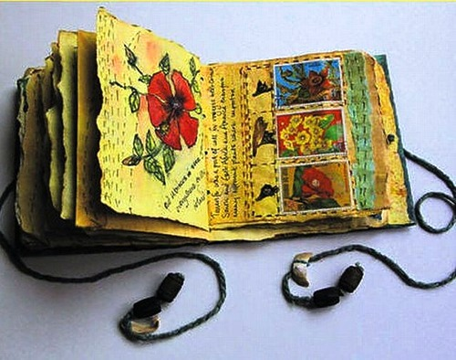Hand-made book by Frances Pickering