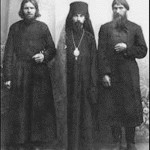 In Verkhotyry monastery, Rasputin (right)
