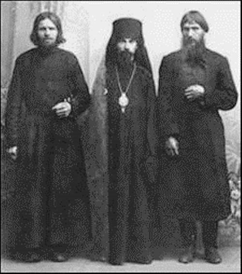 In Verkhotyry monastery, Rasputin (right)