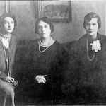 Irina, mother Olga and Natalie (right)