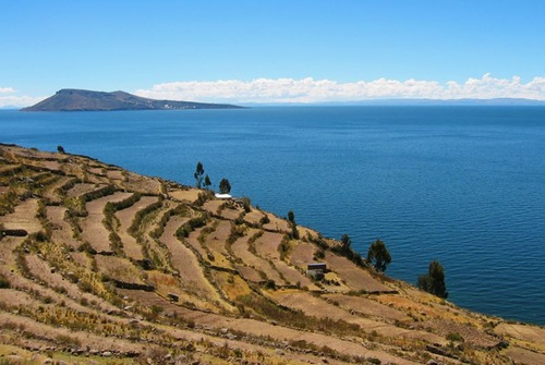Handmade Islands on Lake Titicaca (Titiqaqa) in the Andes, Peru and Bolivia