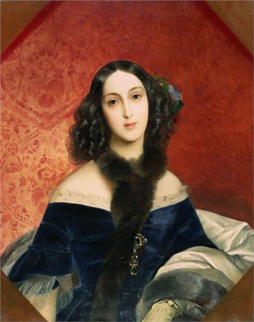 Portrait of M.A. Beck. 1840. Karl Bryullov muse Countess Yulia Samoilova