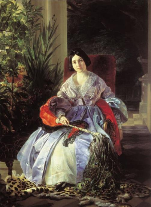 Karl Bryullov muse Countess Yulia Samoilova