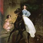 Rider (Portrait of Amalia Giovannini and Pacini, the adoptive daughter of Countess Yulia Samoylova). 1832