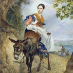 Portrait of Countess O.P.Ferzen on a donkey. 1835
