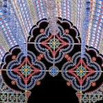 Fabulous light installation by Italian lighting experts Luminarie De Cagna, Licht Festival in Ghent, Belgium
