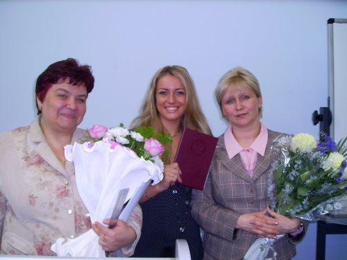 Masha Fedorova and her school teachers