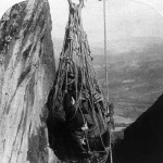 A man hoisted 250ft in a net, the only way to access the Monastery of St Barlaam (right), which also forms part of the Meteora complex in Greece. Meteora complex in Greece