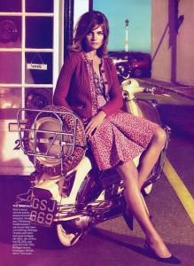 Stunningly beautiful model Natalia Vodianova