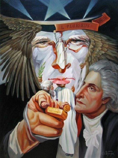 Hidden images in paintings of Oleg Shuplyak