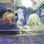 Bus trip. Painting by Irish artist Enda O'Donoghue