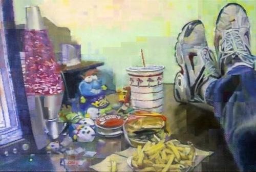 Painting by Irish artist Enda O'Donoghue