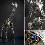 Steampunk sculpture by American sculptor Andrew Chase