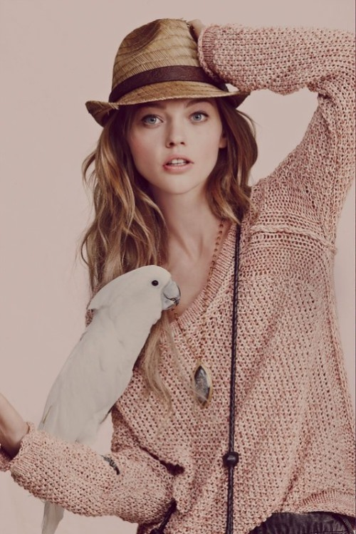 Beautiful Russian model Sasha Pivovarova