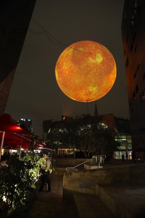 Creative Solar Equation installation by Mexican artist Rafael Lozano-Hemmer