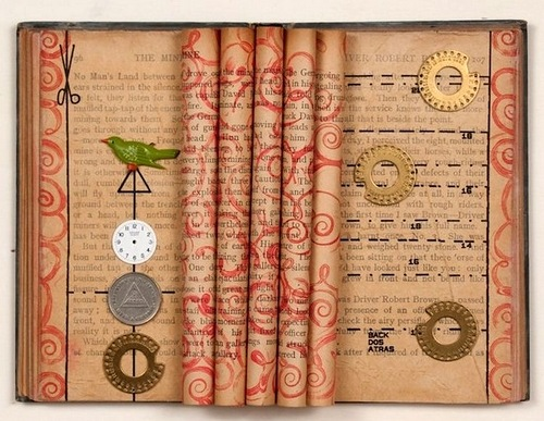 Spectacular altered books by Rachael Ashe