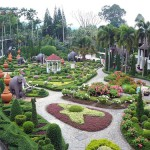 Beautiful man-made Nong Nooch Garden
