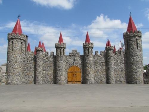 The fairy-tale stone castle in Akimovka, Zaporozhye region, Ukraine