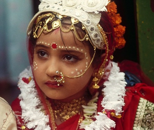 This little girl is a child bride from India, the country with the highest number of child brides