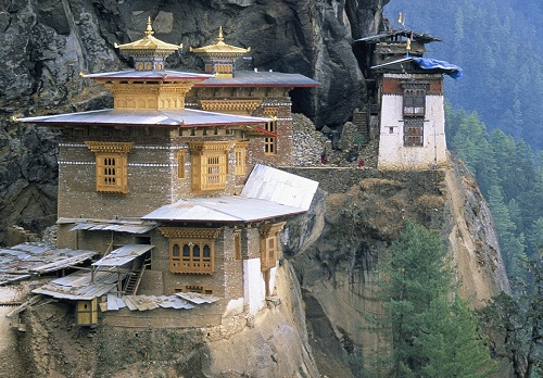 According to legend, the Tiger's Nest takes its name from the 'second Buddha', Precious Guru Padmasambhava, who traveled to the site on a tiger