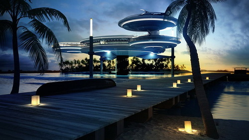 The underwater hotel in Dubai