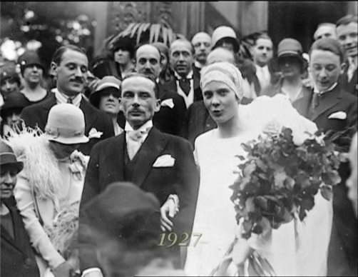 Wedding - Natalie Paley and Lucien Lelong, 1927