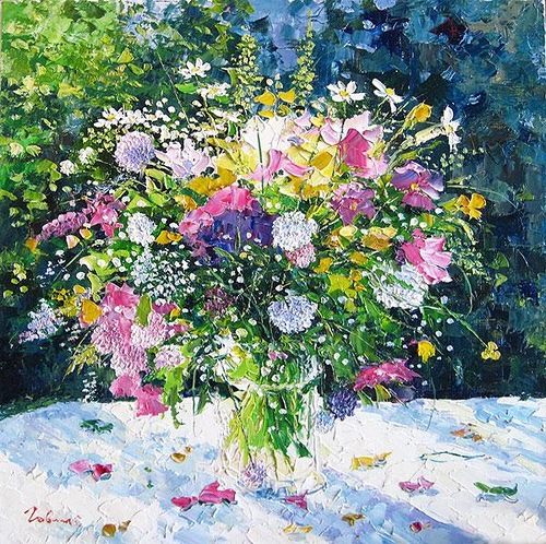 Eugene Gavlin's landscapes and flowers