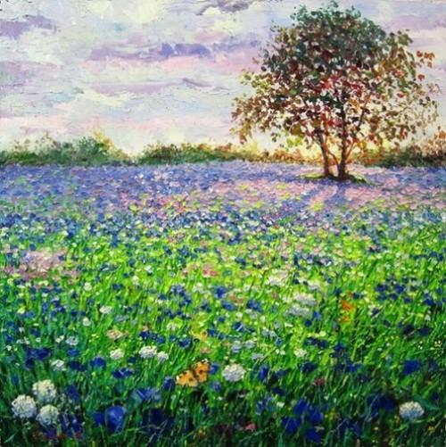 Eugene Gavlin's landscapes and flowers