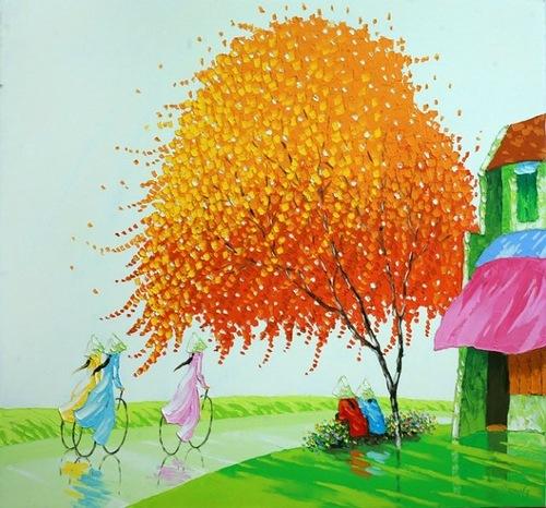 Colorful painting by Phan Thu Trang