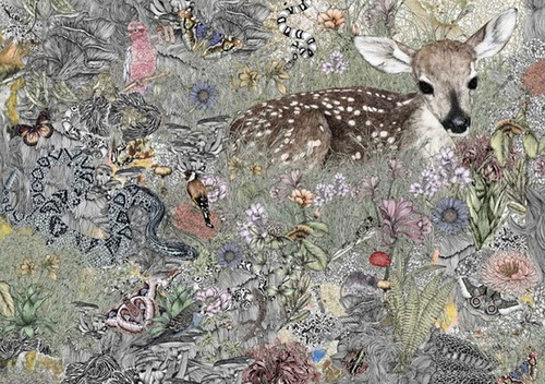 Victoria Garcia's textile print designs. Illustration by Australian artist Victoria Garcia