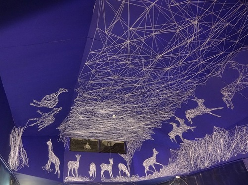 Luminescent ceiling installation by Julien Salaud