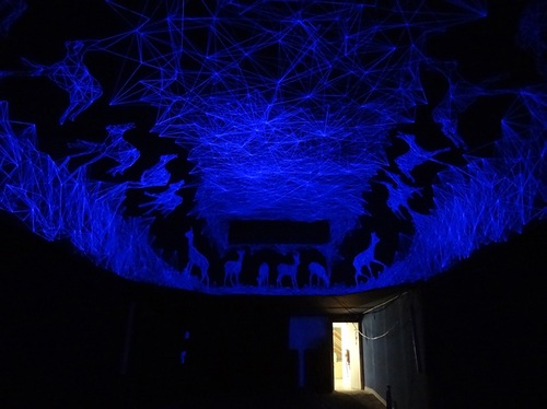 Luminescent ceiling installation by French artist Julien Salaud
