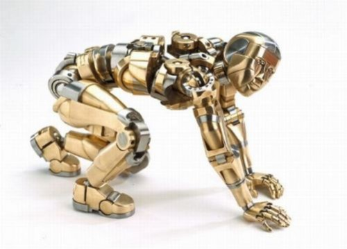 Made by Mark Ho, Mechanical Iron man which can take any human posture. the Netherlands