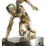 Taking any human posture mechanical Iron man made by Mark Ho, the Netherlands