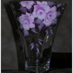 Beautiful wine glasses. Painting on glass by Russian artist Tatyana Kudryavtseva