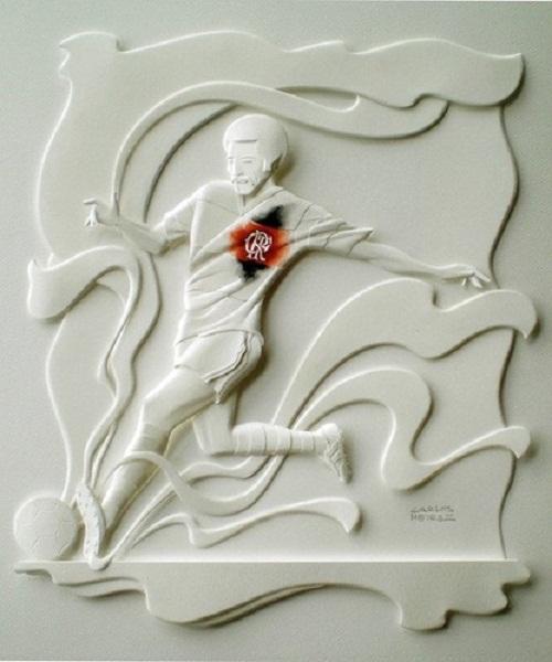 Carlos Meira's paper sculptures
