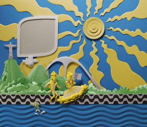 Paper sculpture by Brazilian artist Carlos Meira