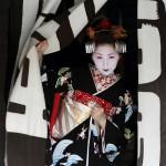 Black color kimono, Maiko