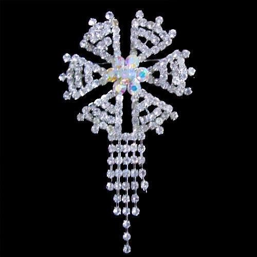 Beautiful Swarovski brooches. Fantasy of jewelry masters in beautiful brooches decorated with Swarovski crystals