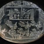 Cofanetto Farnese. Gilded box of Cardinal A. Farnese. Detail: Rock-crystal plaque (ca. 1547-1561). Plaques by Giovanni dei Bernardi (1543-1544)