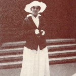 Khokhlova in a white hat