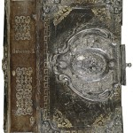 17th century copper-gilt and silver filigree book binding