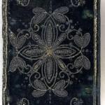 Velvet, 17th century embroidered book cover. (London, 1620)
