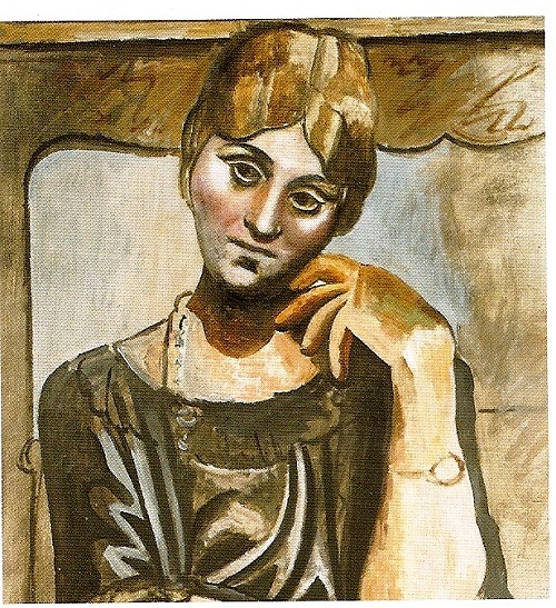 1917, portrait of Olga