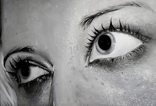 Wet eyes. Hyper realistic paintings by Swedish artist Linnea Strid